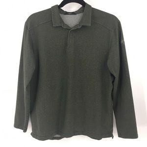 Arc'teryx Captive Polo Shirt Long Sleeve Green XXL